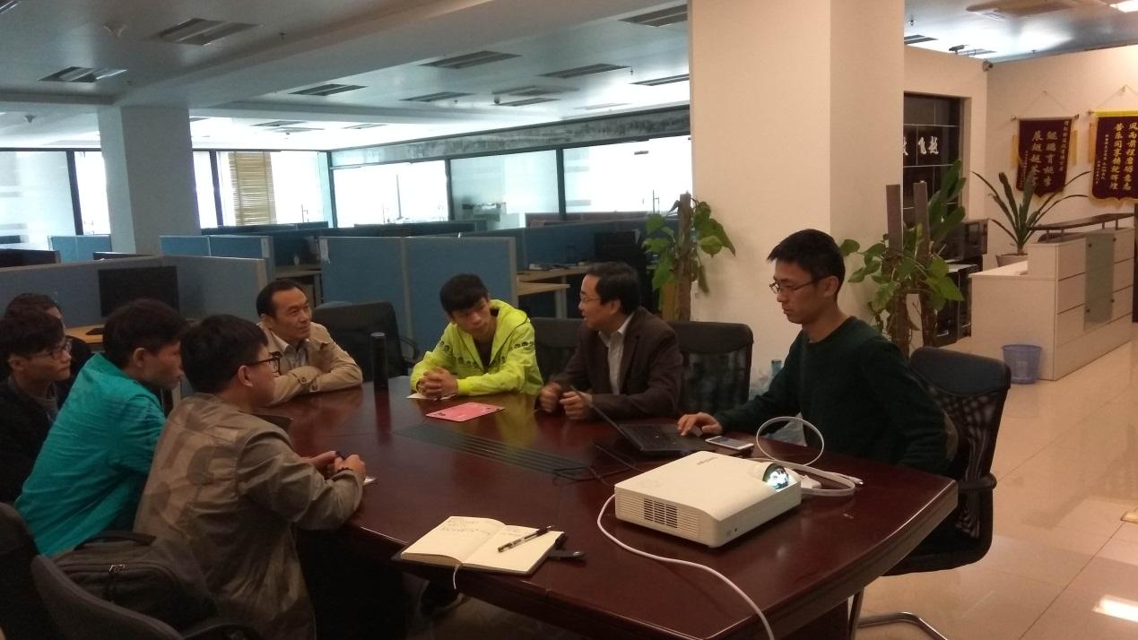 信息系与鲲鹏通信(昆山)有限公司洽谈成立无人机竞赛协会